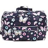 Foldable Large Travel Duffle Bag Waterproof Cute Overnight Carryon Weekender Bag for Women Girl (Butterfly/1)