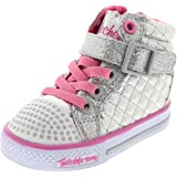Skechers Infant/Toddler Girls' Twinkle Toes Shuffles Chitter Chatter High Top