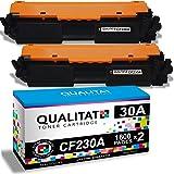 QUALITAT CF230A Toner Cartridge Compatible for HP 30A 30X CF230X Toner Cartridges 2 Pack Black cartridges for use in Laserjet