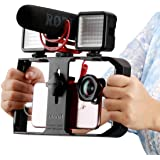 Ulanzi U Rig Pro Smartphone Video Rig, Video Stabilizer w 1/4 inch Screw Triple Cold Shoe Mount Compatible for iPhone Xs Max