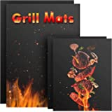 Nomeca 4 Pack Non-Stick BBQ Grill Mat Teflon Reusable Barbecue Cooking Mats for Charcoal Grill Stove, Oven Liner for Bottom o