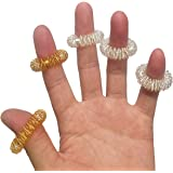 Spiky Sensory Finger Rings, Stress Relief Fidget Sensory Toys(Pack of 12),Fidget Rings Kids Teens & Adults Silent Stress Redu