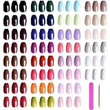 720 Pieces Short Press on Nails Ballerina Coffin False Nails EBANKU Colorful Full Cover Fake Nails Tips Acrylic False Gel Nai