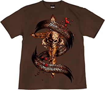 [GENJU] Tシャツ スカル 十字架 ドクロ ロック メタル 裏もデザイン有 メンズ キッズ
