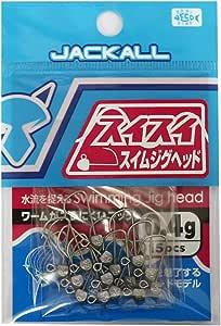 JACKALL(ジャッカル) ジグヘッド スイスイ スイムジグヘッド 0.4g/15pcs.