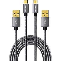 STAB ILIST マイクロUSBケーブル Micro usb 2m 2本組 2.4A 急速充電ケーブル PS4コント…