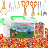 Water Beads with Fine Motor Skills Toy Set Non-Toxic Water Sensory Toy for Kids-30,000 Beads Sensory Bin Kit with 1 Scoop 1 S