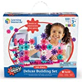 Learning Resources LER9162-P Gears! Gears! Gears! Deluxe Building Set, Pink,100 Pieces