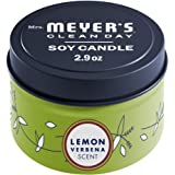 Mrs. Meyer's Clean Day Scented Soy Candle with Essential Oils, Lemon Verbena Scented Tin Candle, 2.9 oz