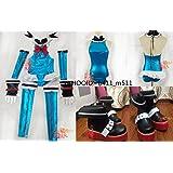 コスプレ衣装◆DOA5/マリー・ローズ C2 青/DEAD OR ALIVE/デドアラ+靴