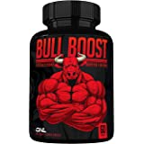 Bull Boost Male Testosterone Booster (1 Month Supply) - Enlargement Booster for Men - Increase Size, Strength, Stamina - Ener