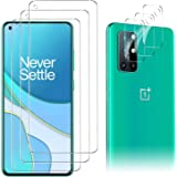 Luibor for OnePlus 8T Screen Protector[3 Pack]+ for OnePlus 8T Camera Lens Protector [3 Pack], Tempered Glass for OnePlus 8T,