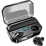 【令和進化版Bluetooth5.0 8000mAh超大容量ケース付き 480時間連続駆動 LED電量表示 IPX7 Bluetooth イヤホン 】ワイヤレスイヤホン 電量インジケーター付き イヤホン Hi-Fi 高音質 AAC対応 最新bluet