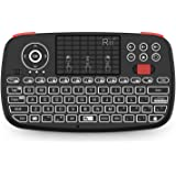 (2019 Upgrade) Rii i4 Mini Bluetooth Keyboard with Touchpad, Blacklit Portable Wireless Keyboard with 2.4G USB Dongle for Sma