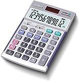 カシオ 本格実務電卓 12桁 検算機能 グリーン購入法適合 テレワークの効率UP ジャストタイプ シルバー JS-20WK