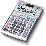 カシオ 本格実務電卓 12桁 検算機能 グリーン購入法適合 ジャストタイプ シルバー JS-20WK