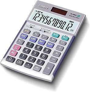 カシオ プロ仕様の決定版「本格実務電卓」 検算機能搭載 グリーン購入法適合 ジャストタイプ 12桁 シルバー JS-20WK