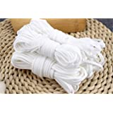 ゴム 丸ゴム 10m ホワイト 裁縫道具 柔らかい 手作り用ゴム 手芸用 花粉 風邪