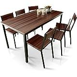 LOWYA ロウヤ ダイニングセット テーブル 6人掛け チェア 6脚 7点セット ウォルナット