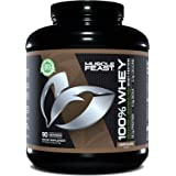 Muscle Feast 100% Whey Protein Powder, Grass Fed & Hormone Free, Blend of Concentrate, Isolate, and Hydrolyzed Whey Protein (