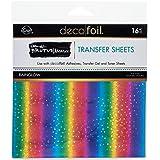 "iCraft Deco Foil Transfer Sheets by Brutus Monroe 6"" x 6"" 16 Sheets Rainglow"