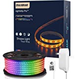 LED Strip Lights Compatible with Alexa Maxonar WiFi LED Light Strip Kit with RGB Multicolor Waterproof IP65 Strip Light Wirel