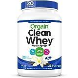 Orgain Grass Fed Whey Protein Powder Vanilla Bean 1.82lbs