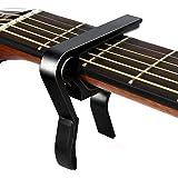 Guitar Capo, Quick-Change Capo for Acoustic and Electric Guitar, Ukulele, Bass, Banjo, Mandolin - Single Handed Capo