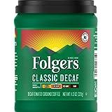 Folgers Classic Roast Decaffeinated Ground Coffee, 11.3 oz