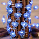 Chanukah Decorative Lights, Impress Life Menorah String Lights 10 ft Copper Wire 40 LEDs New Battery-Powered for Jewish Hanuk