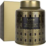 LA JOLIE MUSE Dark Rum & Oak Scented Candle, Natural Wax Candle for Home, 100 Hours Long Burning Holiday Candle for Men, Tin,