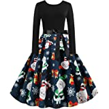 Vcegari Vintage Sleeveless Cocktail Party Dress 1950s Retro Dresses Floral Patchwork Stitched A-line Dress