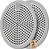 Stainless Steel and Silicone (grey) 4.3inch Easy Clean Shower Stall Drain Protector,Shower Drain Hair Catcher Drain Strainer