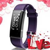 Lintelek Fitness Tracker Heart Rate Monitor, Activity Tracker, Pedometer Watch with Connected GPS, Waterproof Calorie Counter