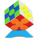 QiYi 磁石キューブ 【磁石内蔵】 競技用キューブ 3x3x3 プロ向け 達人向け 中級者向け ステッカーレス 世界基準配色 マグネット ポップ防止 脳トレ