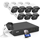 ANNKE 8CH 5MP PoE Security Camera System H.265+ 4K NVR Security System w/ 8pcs 5MP Outdoor Weatherproof PoE Surveillance Came