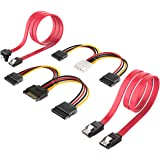 SATA Cable, Inateck SATA Data Cable and SATA Power Splitter Cable, ST1003