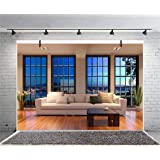 Leyiyi 7x5ft Photography Background Las Vegas Nightview Backdrop Living Room Sunny Balcony Study Resting Area Business Center