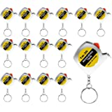 Trounistro 24 Pack Tape Measure Keychains Mini Tape Measure Retractable Measuring Tape, 1 m/ 3 ft