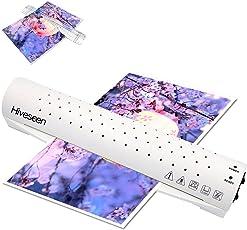 Hiveseen ラミネーター A3対応 A4・名刺サイズ・ハガキサイズにも対応 75~100ミクロンフィルム厚対応 立ち上がり3~4分 パーソナルラミネーター オフィス用 コンパクト ペーパーカッター付き