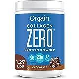 Orgain Grass Fed Hydrolyzed Collagen Peptides Zero Protein Powder - Chocolate Flavor, 0g Sugar, Pasture raised, Dairy Free, S