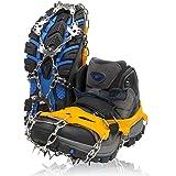 ZAFIELD アイゼン スパイク 19本爪 登山 雪山 トレッキング 簡単装着 収納袋付き 男女兼用