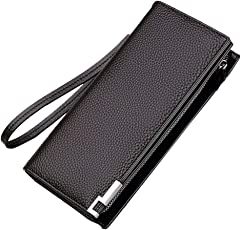 hengsheng (ハンセン)長財布 メンズ 財布 さいふ 男性 小銭入 カード12枚入れ ビジネス カジュアル 大容量 ロングウォレット おしゃれ