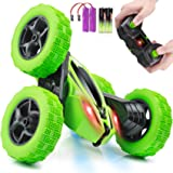 Remote Control Car, ORRENTE RC Cars Stunt Car Toy, 4WD 2.4Ghz Double Sided 360° Rotating RC Car with Headlights, Kids Xmas To