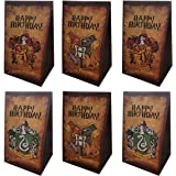 Magical Wizard School Party Bags,Potter Gift Bags - Harry Candy Bags for Children HP Theme Birthday Party Supplies Set of 12