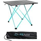FE Active Camping Folding Table - Aluminum Joints, Compact, Lightweight Camping Table. Portable Outdoor Furniture for Picnic,