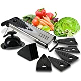 Premium Mandoline Fruit & Vegetable Cutter for Home and Business-Cheese Grater, Potato Slicer   Vegetable Chopper: Includes 5