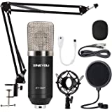 Condenser Microphone ZINGYOU ZY-007 Professional Cardioid Mic Bundle for Pc/Laptop Recording Studio YouTube Podcast Vocal Bro