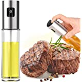Oil Sprayer for Cooking, 1PCS Olive Oil Sprayer Mister Spray Bottles 3.4Oz Refillable Oil Vinegar Dispenser Glass Bottle for