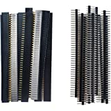 SamIdea 40 Pcs 40 Pin 2.54mm Dupont Male Female Pin Socket Connector Pin Headers for Arduino Prototype Shield